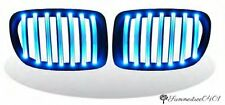 BMW E84 X1 5DR SUV 2009-2014 Front Kidney Grille Matte Black With BLUE LED