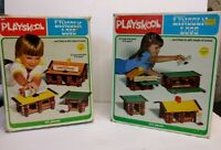 Lot of Lincoln Logs Wooden Building Pieces and Signs from Sets 886 887 & Boxes
