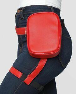 Women Waist Leg Belt Leather Cool Girl Fanny Pack Outdoor Hiking Motorcycle Hot