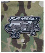 Morale Patch - Milspec Monkey - FUR MISSLE K9 Dog - PVC - Urban Swat color