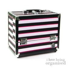 Makeup Organiser Case, Caboodles Stylist 6 Tray Train Case, Stripes