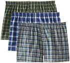 Fruit of the Loom Mens Tartan / Woven Boxer Shorts in Famous Brand Packaging