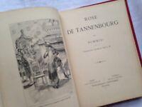 LIVRE ROSE DE TANNENBOURG SCHMID CARTONNAGE ILLUSTRÉ GRAVURES ANCIEN CASTERMAN