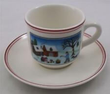 Villeroy & and Boch CHRISTMAS NAIF LAPLAU espresso cup & saucer NEW NWL