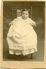 Original Antique Photo-Cute Baby Sitting-Wooden Chair-TAYLOR Family Donald 6mo