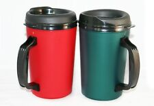 2 New Foam Insulated 20 oz ThermoServ Mugs Red & Green