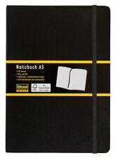 IDENA Notizbuch kariert  A4 A5 A6 A7 Kladde Memobuch Tagebuch Schwarz 192 Seiten