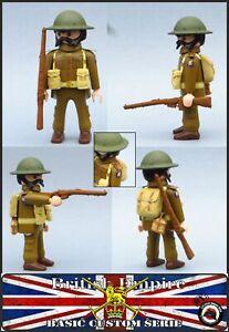 SOLDADO BRITANICO WORLD WAR 2 GUERRA MUNDIAL EJERCITO INGLES CUSTOM PLAYMOBIL 3