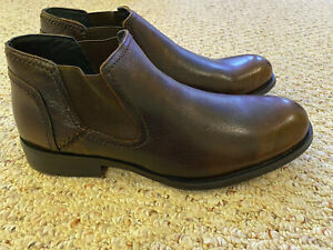 """NEW IN BOX Robert Wayne Men's """"Maple"""" Dress Boots, Brown Leather, Size 10"""