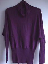 Passport wool blend Cowl Neck Jumper Size 36 will also fit an 8 & 10 purple top