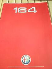 Alfa Romeo 164 Autocar Road Test brochure Oct 1988 + price list