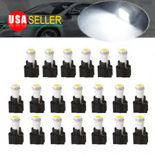 20x White 17 18 T5 Instrument Panel Dash Light LED Bulb Kit PC74 + Twist Sockets