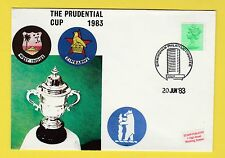 CRICKET - STAMP COVER - PRUDENTIAL CUP -  WEST  INDIES  V  ZIMBABWE  -  1983