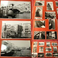 ALBUM PHOTOS VOYAGE ITALIE VENISE , gondole, Grand Canal,99 photos 1956