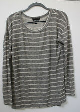 A Pea In The Pod Whetherly Grey Striped Knit Longsleeve top Large
