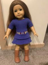 american girl doll sage W/Book and Earrings