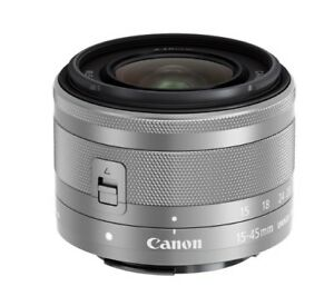Canon EF-M 15-45mm f/3.5-6.3 IS STM-Silver (Bulk Package)