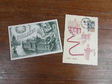 CARTE POSTALE MAXIMUM RALLYE PHILATEC LONGWY 1964 + Carte Voeux DECARIS