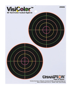 Champion Visicolor 5″ Double Bull Target 10 Pack 50 Yard Sight In
