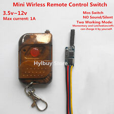 Mircro Mini Wireless Switch on/off 3.7v 5v 6v 9v 12v Receiver Remote Transmitter