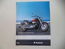 advertising Pubblicità 2001 MOTO SUZUKI VL 800 INTRUDER VOLUSIA
