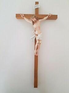 Holzkreuz / Kruzifix / Chrictuskreuz / Jesus hangefertigt