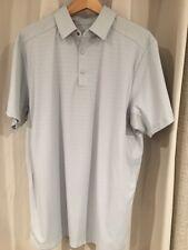New Under Armour Grey Golf Shirt Heat Gear Regular Fit Size Large
