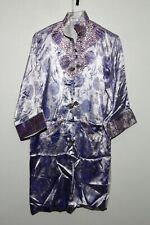 Chinese Men Cheongsam Purple Satin Brocade or Silk Small