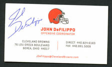 John DeFilippo signed autograph Cleveland Browns Offensive Business Card BC150