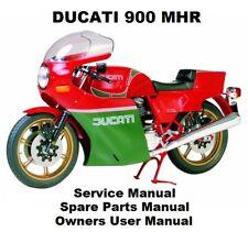 DUCATI 900 MHR Owners Workshop Service Repair Parts Manual PDF on CD-R HAILWOOD