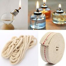 154cm 5Ft Flat Cotton Oil Lamp Alcohol Wick Roll For Oil Lamps and Lanterns