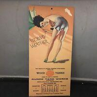 PIN - UP CALENDAR 1935 EARL MORAN STORMY WEATHER BREWERY BEER ADVERTISNG NICE