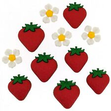 Dress it up Fresh Strawberries 9389 set of 2 Packages of Button FREE US SHIPPING