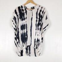 Cabi #137 100% Silk Tie-Dye Cocoon Tunic Sz XS