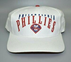 Philadelphia Phillies Vintage Twins Enterprise White Strapback Cap Hat - NWT
