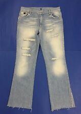 take two jeans donna usato zampa bootcut strappati destroyed w36 tg 50 blu T3962
