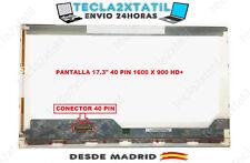 """PANTALLA PARA PORTATIL 17,3"""" HP Envy 17-K100no 1600 X 900 WXGA++ 40 PIN LED LCD"""