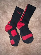 Nike Elite Socks Black/Red Basketball Socks Size Medium (6-8) 12