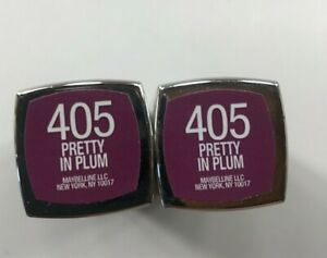 Maybelline Color Sensational Lipstick 405 Pretty In Plum Lot of 2