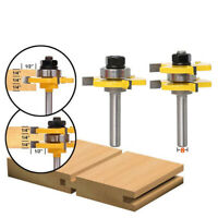 8mm Shank 3Teeth Tongue & Groove Router Bit Milling Cutter For Woodworking ToolL