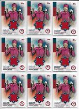 (9) 2014 TOPPS OLYMPIC KIKKAN RANDALL RELIC MEMORABILIA CARD LOT ~ NORDIC SKIING