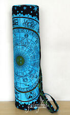 Cotton Yoga Mat Carrier Bag Indian Astrology Mandala With Shoulder Strap Throw