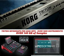 Triton Keygroup Instruments for Akai MPC One, Live or X (1640 Patches 140GB)