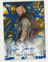Eric Young 2018 Topps WWE Road to Wrestlemania Autograph Card Auto Blue 1/50