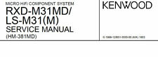 KENWOOD RXD-M31MD LS-M31 (M) SERVICE MANUAL BOOK ENGLISH MICRO HIFI COMP SYSTEM