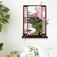 3D Pink Peach Blossom Flower Tree Vinyl Wall Decal Removable Stickers Home Decor