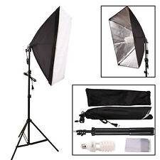 135W Softbox Set Fotostudio Set Studioleuchte E27 Fotolampe Lampenstativ NEU DHL