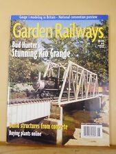 Garden Railways Magazine 2000 June Concrete structures Cutting Earthwork Retaini