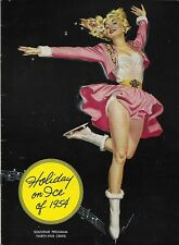 Vintage Holiday On Ice of 1954 Souvenir Program EUC
