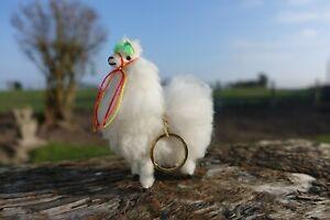 Fluffy Mini Alpaca Keyring